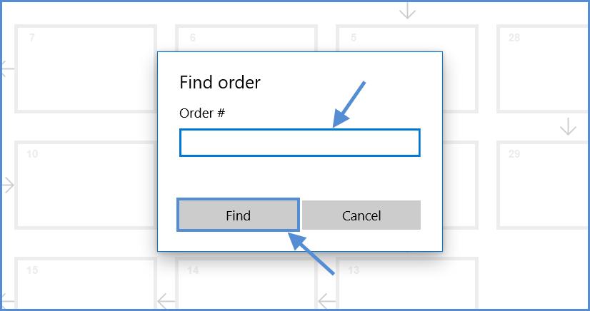 Enter order details
