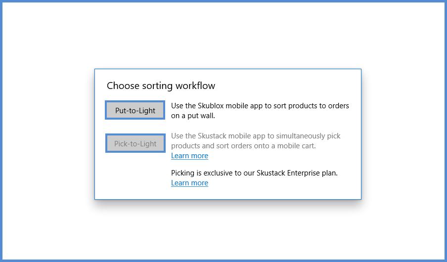 Choosing sorting workflow