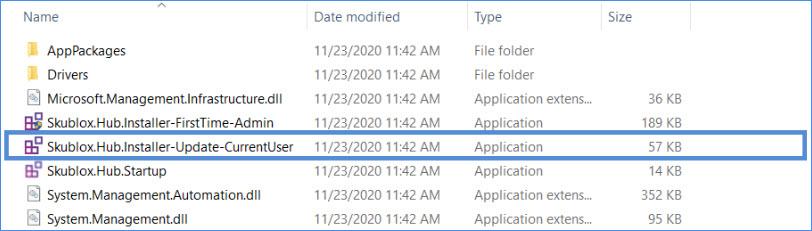 skublox hub application installer file