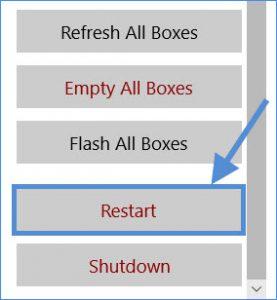 skublox hub application restart